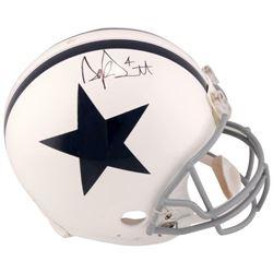 Dak Prescott Signed Dallas Cowboys Throwback Full-Size Authentic On-Field Helmet (Fanatics Hologram)