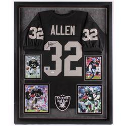 Marcus Allen Signed 34x42 Custom Framed Jersey (JSA Hologram)