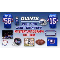 Schwartz Sports 1986, 1990 New York Giants World Champs Mystery Autograph Gift Box – Series 2 (Lim