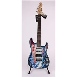 """Henrik Lundqvist Signed New York Rangers LE Electric Guitar Inscribed """"NYR All-Time Wins Leader"""" (St"""