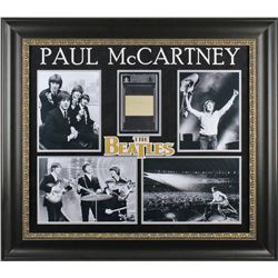 Paul McCartney Signed The Beatles 30.25x34 Custom Framed Cut Display (Beckett Encapsulated)