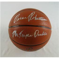 "Oscar Robertson Signed NBA Game Ball Series Basketball Inscribed ""Mr. Triple Double"" (JSA COA)"