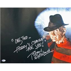 """Robert Englund Signed """"A Nightmare on Elm Street"""" 16x20 Photo Inscribed """"One, Two...Freddy's Coming"""