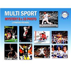 Schwartz Sports Multi Sports Signed Triple 8x10 Mystery Photo Collection – Series 3 (3 Autographed