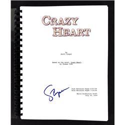 "Scott Cooper signed ""Crazy Heart"" Movie Script (Beckett COA)"