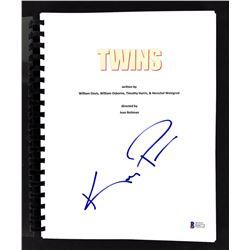 "Kelly Preston Signed ""Twins"" Movie Script (Beckett COA)"