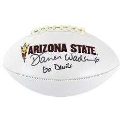 "Darren Woodson Signed Arizona State Sun Devils Logo Football Inscribed ""Go Devils"" (Beckett COA)"