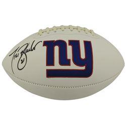 Tiki Barber Signed New York Giants Logo Football (Beckett COA)