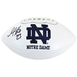 Golden Tate Signed Notre Dame Fighting Irish Logo Football (Beckett COA)