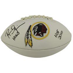 "Russ Grimm Signed Washington Redskins Logo Football Inscribed ""Hogs""  ""HOF 2010"" (Beckett COA)"