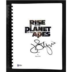 """John Lithgow Signed """"Rise of the Planet of the Apes"""" Movie Script (Beckett COA)"""