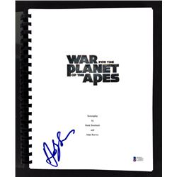 """Andy Serkis Signed """"War of the Planet of the Apes"""" Movie Script (Beckett COA)"""