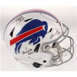 Jim Kelly, Thurman Thomas  Andre Reed Signed Buffalo Bills Full-Size Authentic On-Field SpeedFlex He