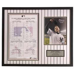 Roger Clemens New York Yankees 21x26 Custom Framed 4000th Strikeout Collage Display