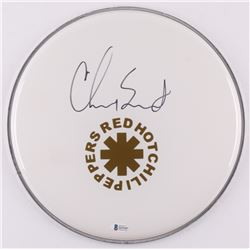 "Chad Smith Signed Red Hot Chili Peppers 12.5"" Drumhead (Beckett COA)"