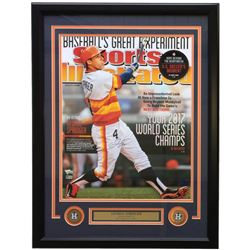 George Springer Signed Houston Astros 16x20 Custom Framed Sports Illustrated Cover Photo Display (Fa