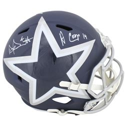 Dak Prescott  Amari Cooper Signed Dallas Cowboys Full-Size AMP Alternate Speed Helmet (Beckett COA