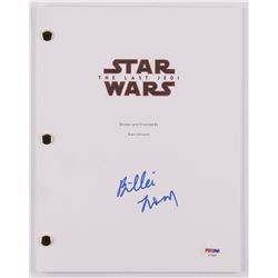 "Billie Lourd Signed ""Star Wars: The Last Jedi"" Movie Script (PSA COA)"