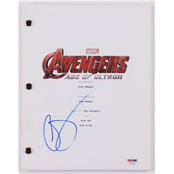 "Aaron Taylor-Johnson Signed ""Avengers: Age of Ultron"" Movie Script (PSA COA)"