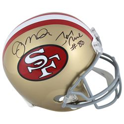 Joe Montana  Jerry Rice Signed San Francisco 49ers Full-Size Helmet (Beckett COA)