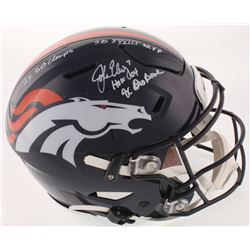 John Elway Signed Denver Broncos Full-Size Authentic On-Field SpeedFlex Helmet with Multiple Career