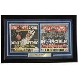 Donte DiVincenzo Signed Villanova Wildcats 2019 Championship 18x27 Custom Framed Daily News Cover Di