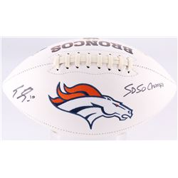 "Emmanuel Sanders Signed Denver Broncos Logo Football Inscribed ""SB 50 Champs"" (JSA COA)"