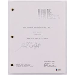 "Daniel Radcliffe Signed ""Harry Potter and the Deathly Hallows – Part 1"" Movie Script (Beckett COA)"