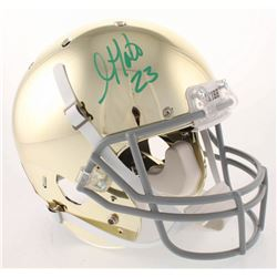 Golden Tate Signed Notre Dame Fighting Irish Chrome Full-Size Helmet (Beckett COA)