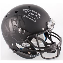 "Johnny Manziel Signed Texas AM Matte Black Full-Size Helmet Inscribed ""'12 Heisman"" (JSA COA)"