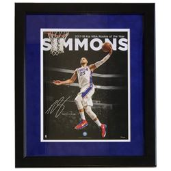 Ben Simmons Philadelphia 76ers 16x20 Custom Framed Photo Display
