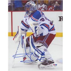 Henrik Lundqvist Signed New York Rangers 8.5x11 Photo (PSA Hologram)