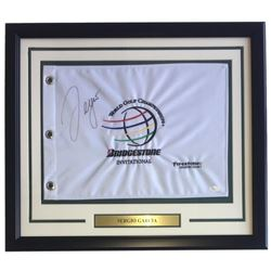 Sergio Garcia Signed Bridgestone Invitational 22x27 Custom Framed Pin Flag Display (JSA COA)