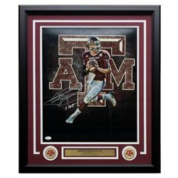 "Johnny Manziel Signed Texas AM Aggies 22x27 Custom Framed Photo Display Inscribed ""'12 Heis"" (JSA CO"