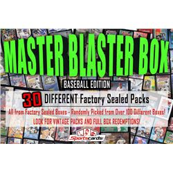 """MASTER BLASTER MYSTERY BOX"" (30) DIFFERENT Factory Sealed Packs – Baseball Edition"