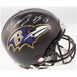 John Brown Signed Baltimore Ravens Full-Size Authentic On-Field Helmet (JSA COA)