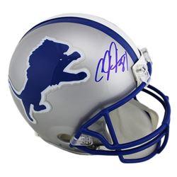 Calvin Johnson Signed Detroit Lions Full-Size Authentic On-Field Throwback Helmet (Radtke COA)