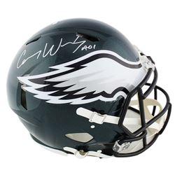 Carson Wentz Signed Philadelphia Eagles Full-Size Authentic On-Field Speed Helmet (Fanatics Hologram