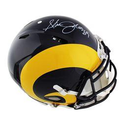 Steven Jackson Signed St. Louis Rams Full-Size Authentic On-Field Speed Color Rush Helmet (Radtke CO