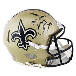 "Marshon Lattimore Signed New Orleans Saints Full-Size Authentic On-field Speed Helmet Inscribed ""201"
