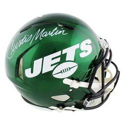 Curtis Martin Signed New York Jets Full-Size Authentic On-Field Speed Helmet (Radtke COA)