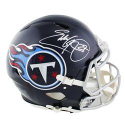Eddie George Signed Tennessee Titans Full-Size Authentic On-Field Speed Helmet (Radtke COA)