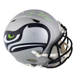 Shaun Alexander Signed Seattle Seahawks Full-Size Authentic On-Field Speed AMP Helmet (Radtke COA)