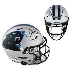 Christian McCaffrey Signed Carolina Panthers Full-Size Authentic On-Field SpeedFlex Helmet (Radtke C