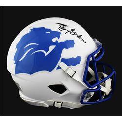 Barry Sanders Signed Detroit Lions Full-Size Authentic On-Field Speed AMP Helmet (Radtke COA)