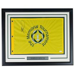 Jordan Spieth Signed The Memorial Tournament 21x27 Custom Framed Pin Flag Display (JSA COA)