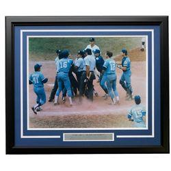 "George Brett Kansas City Royals ""The Pine Tar Incident"" 22x27 Custom Framed Photo Display with Engra"