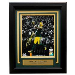 Davante Adams Signed Green Bay Packers 11x14 Custom Framed Photo Display (JSA COA)