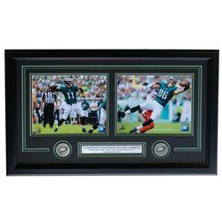 Carson Wentz  Zach Ertz Philadelphia Eagles 18x28 Custom Framed Photo Display