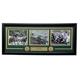"Bart Starr Green Bay Packers ""The Ice Bowl"" 19x31 Custom Framed Photo Display"